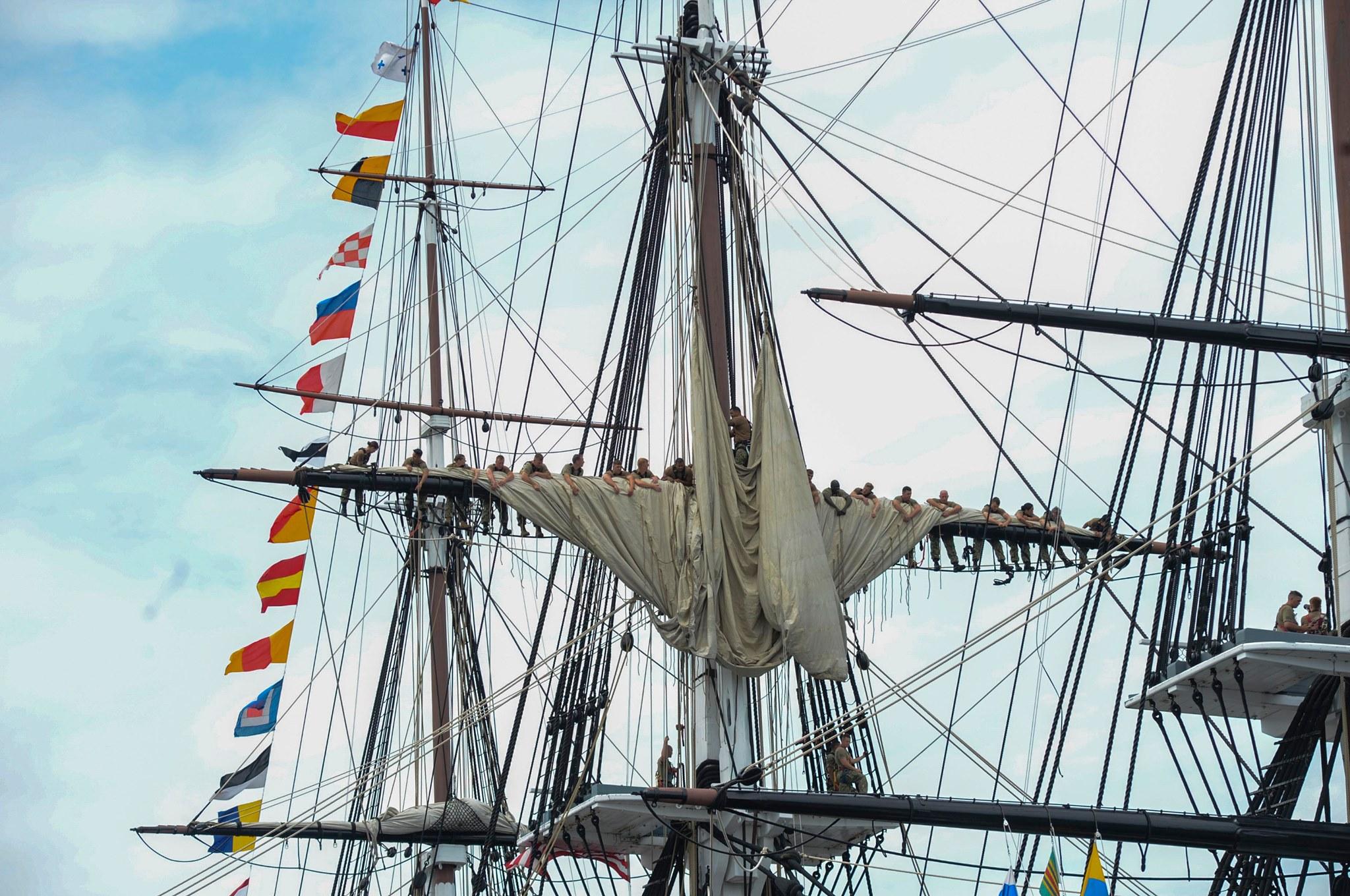 Constitution Under sail