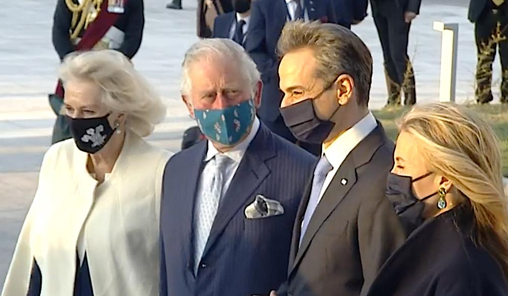 Kyriakos Mitsotakis welcomes Prince Charles and Camilla