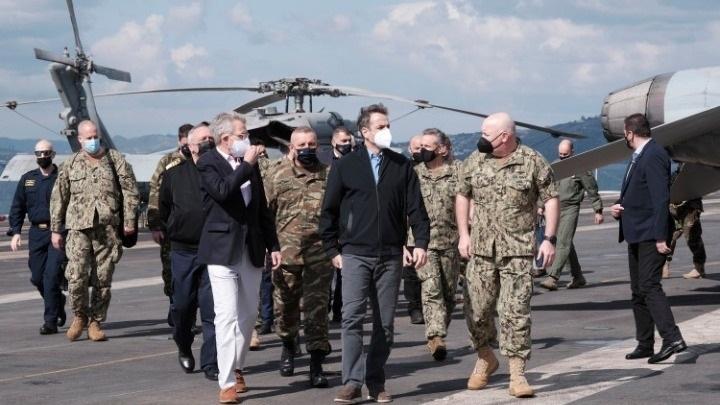 Aircraft Carrier Eisenhower Visit