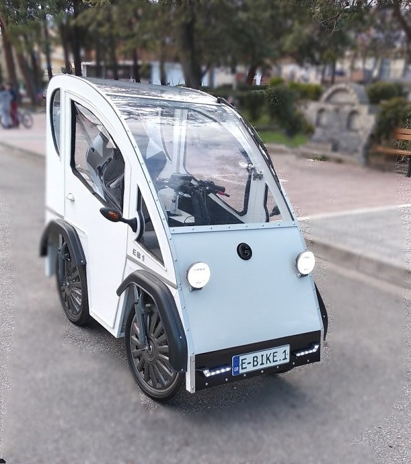 The Greek 4-Wheeled Electric Bicycle