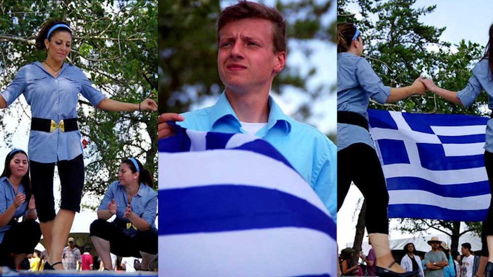 Greek dancing in Greece