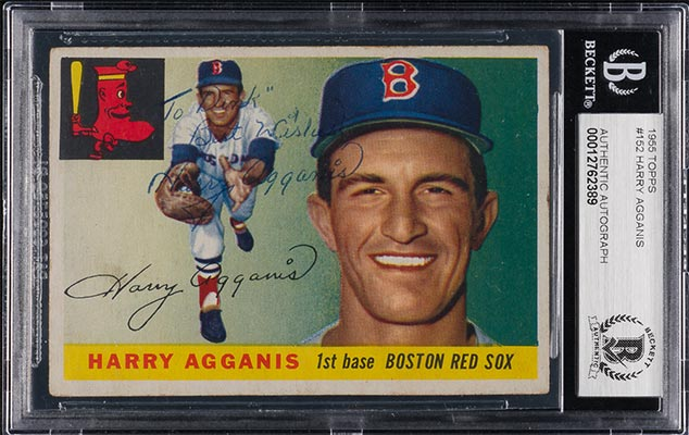 Harry Agganis baseball card