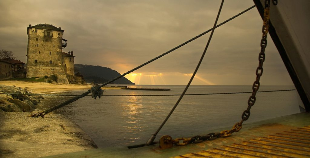 Mt. Athos seascape