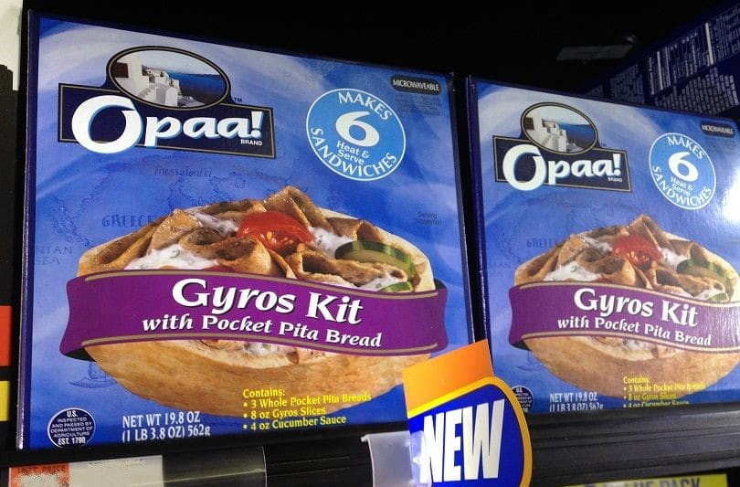 Grecian Delight Kronos launch Opaa! gyros food