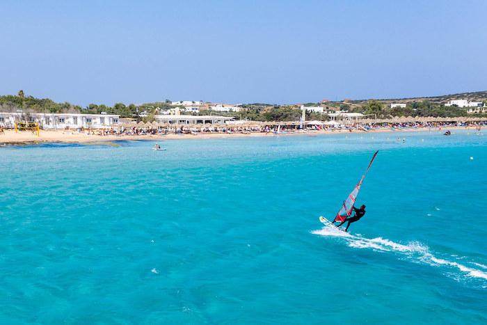 Best Greek islands windsurfing