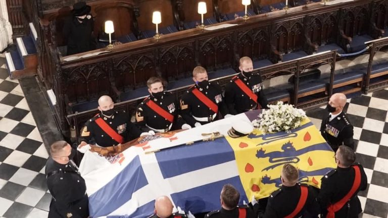 Greek Flag Covers Prince Philip's Casket