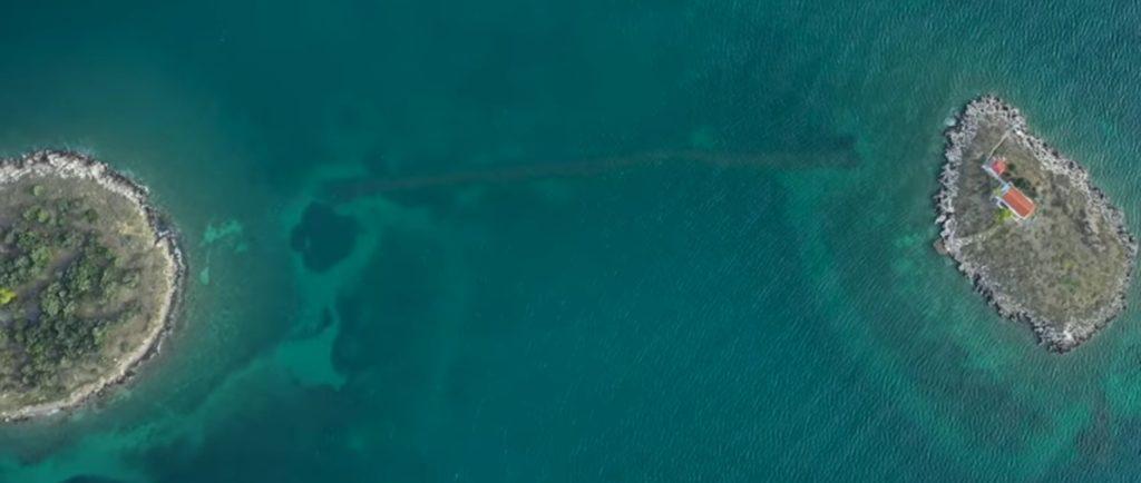 Submerged bridge Greece