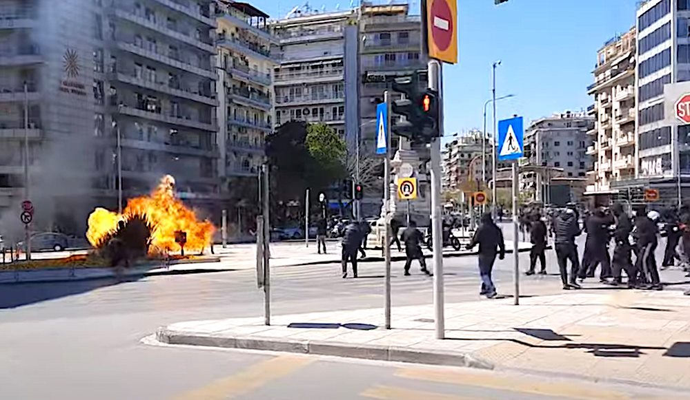 Protests clashes thessaloniki