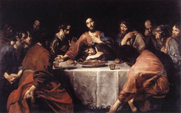 Last Supper on Holy Thursday greek orthodox easter