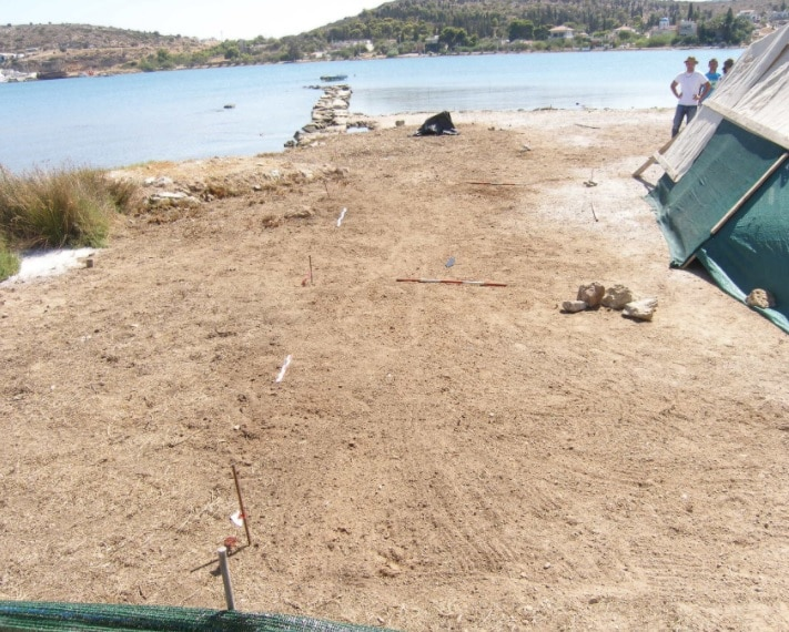 The excavation site before the works started. Credit: Hellenic Ministry of Culture