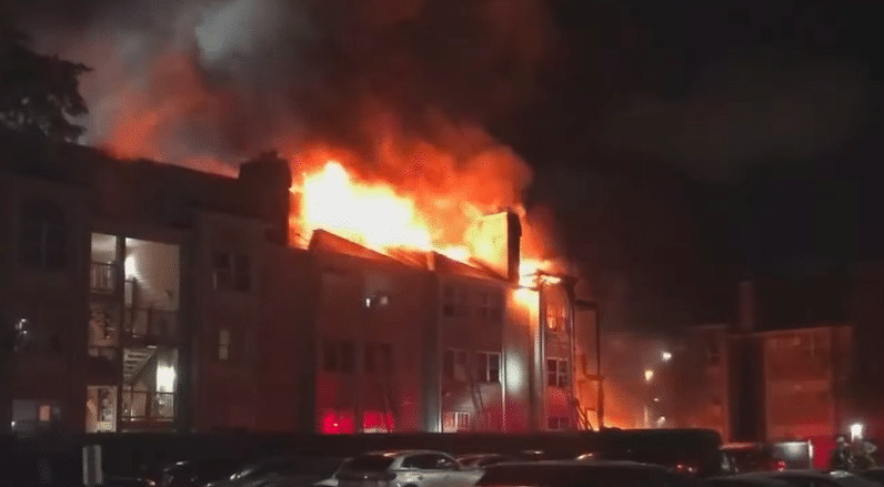 Greek students fire