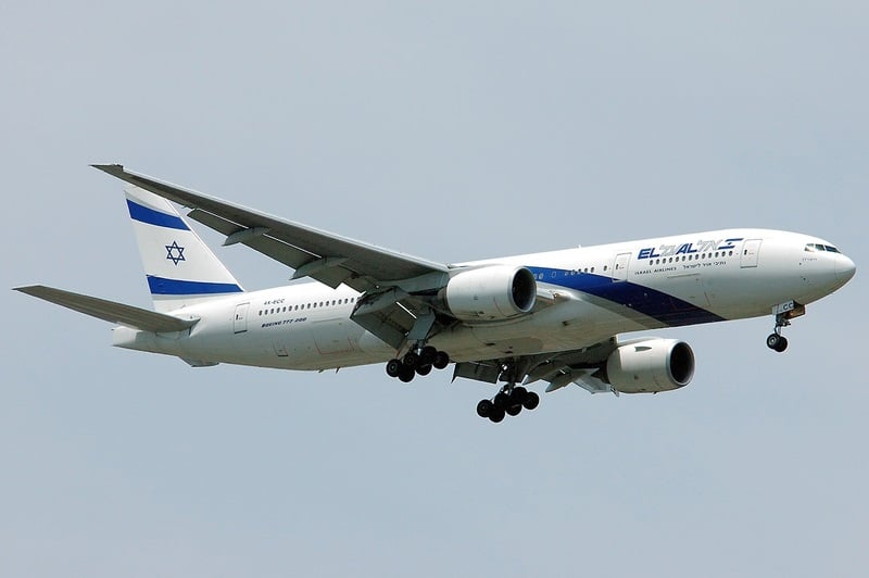 Israeli plane alarm