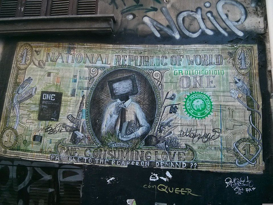 Athens street art graffiti murals