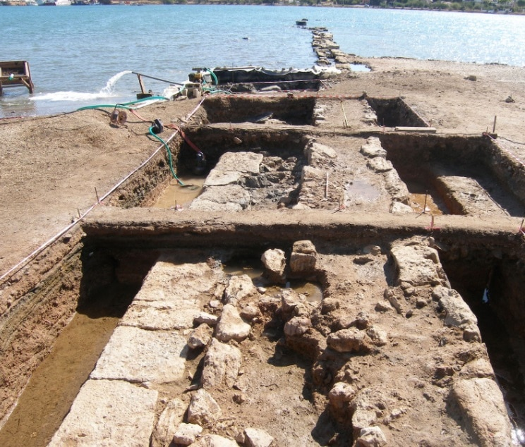 View of the sea walls of ancient Salamina unearthed in 2020. Credit: Hellenic Ministry of Culture