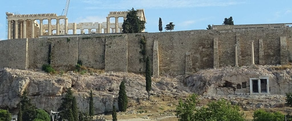 Acropolis with secret chamber below