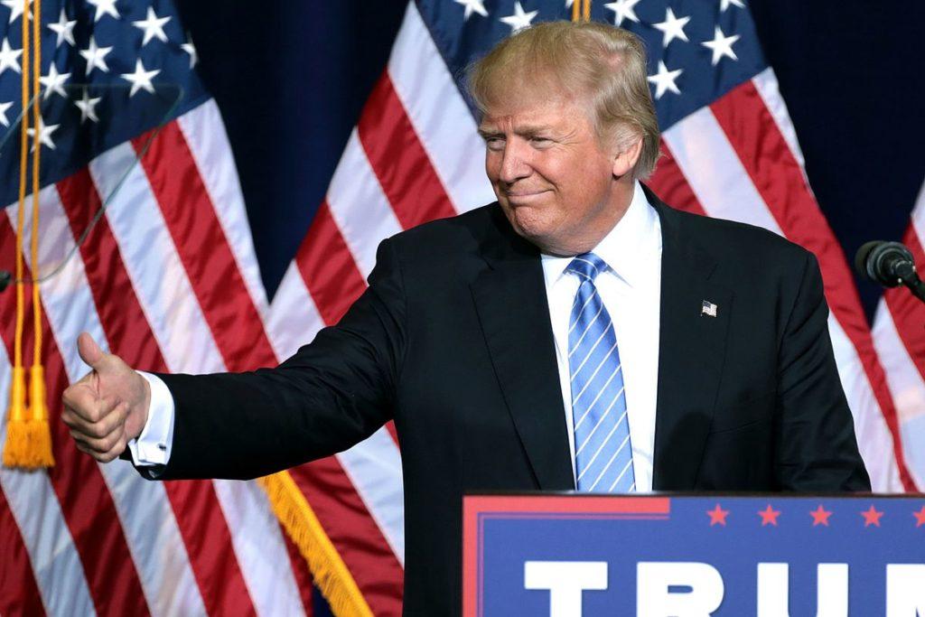 Former US president addresses supporters
