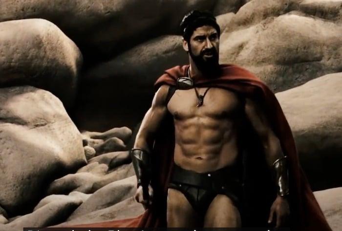 "Gerard Butler in ""300"" as King Leonidas"