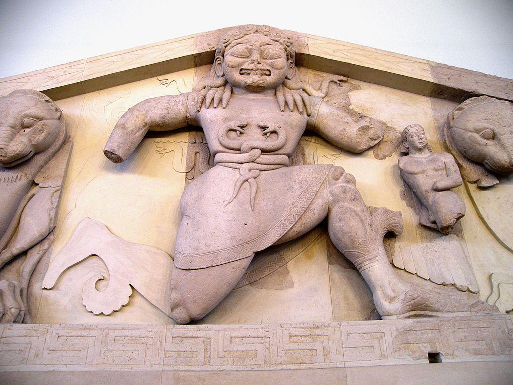 Medusa pediment greek mythology