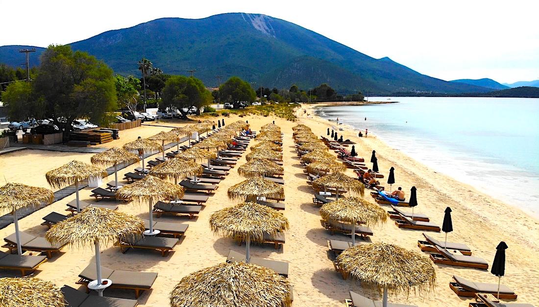 Greece blue flag beaches