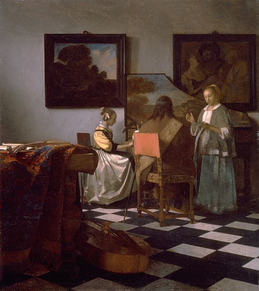 The Concert, Vermeer