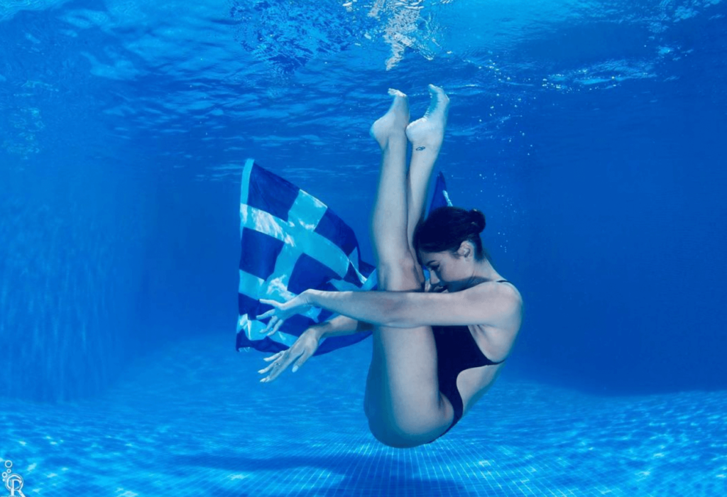 Greek synchronised swimmer