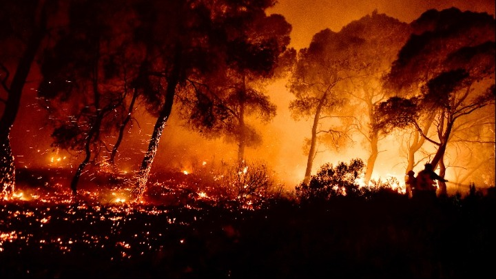 wildfires greece