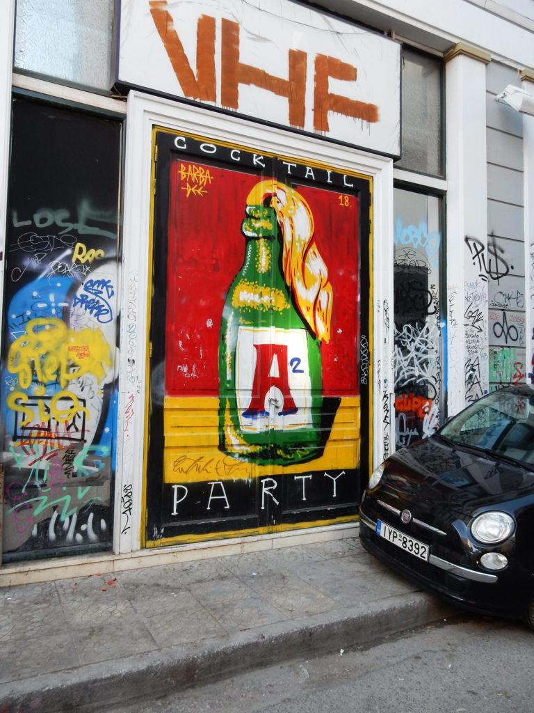 Athens mural graffiti street art