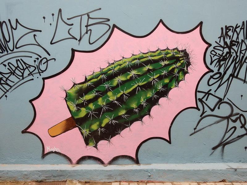 Athens graffiti street art mural