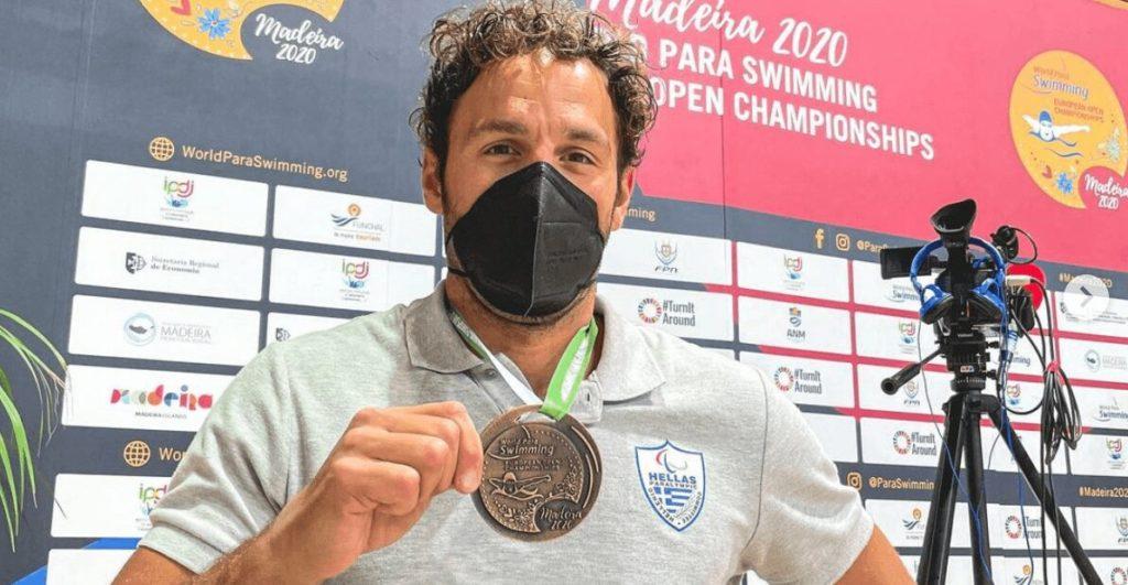 Greek para swimming champion