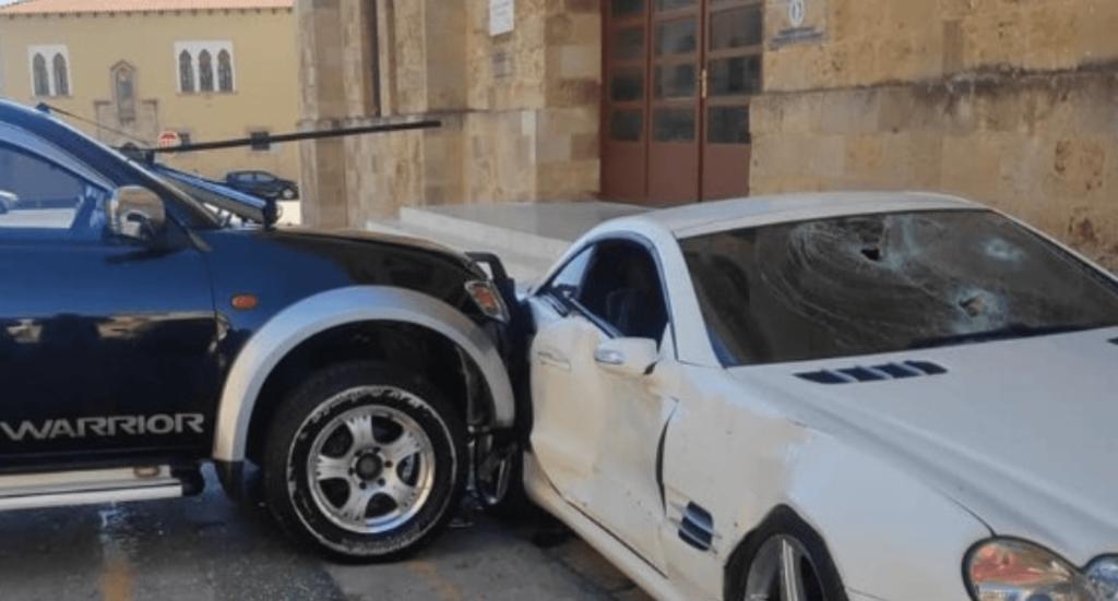 Greek police car Rhodes