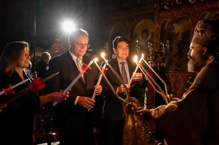 PM Morrison attends Easter Liturgy