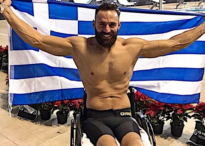 Ο Έλληνας πρωταθλητής κολύμβησης Αντώνης Τσαπάκης