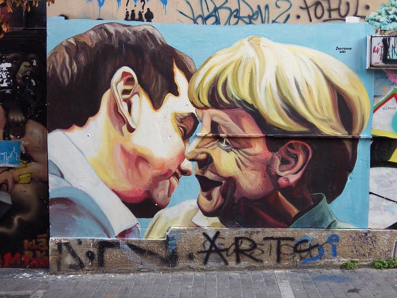 Athens graffiti mural street art