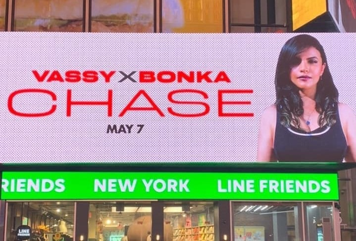"""VASSY Takes Over Times Square with New Song """"Chase"""""""