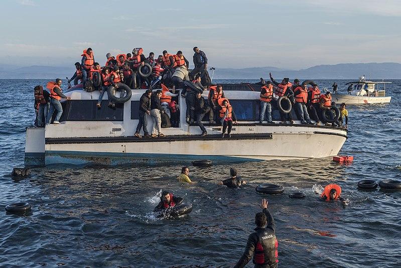 Refugees Arriving in Lesvos, Greece