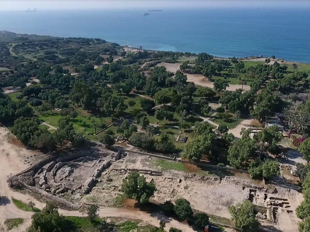 Ashkelon basilica location