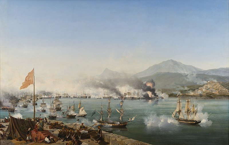 The Battle of Navarino, the end of the Ottoman Empire in Greece.