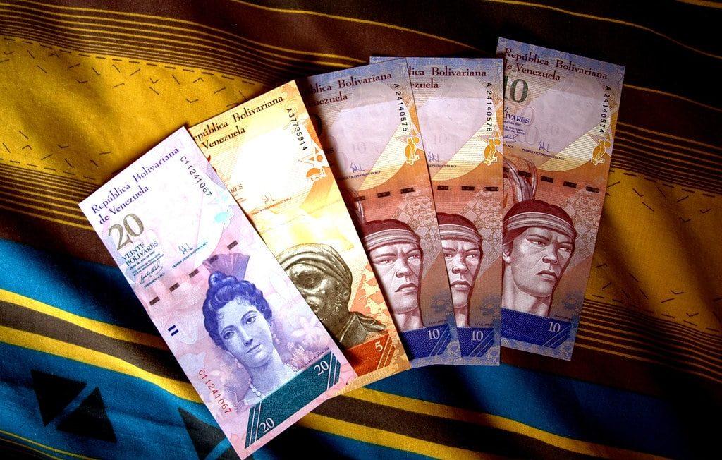 The bolívar soberano, the official currency of Venezuela