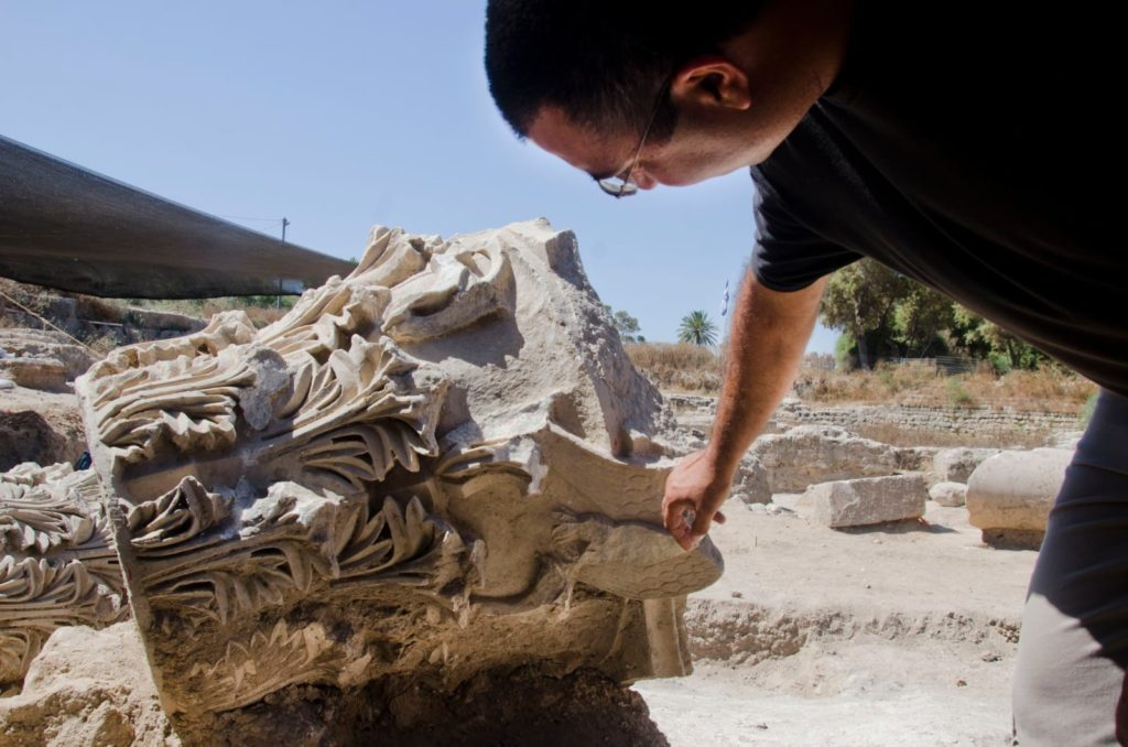 Ashkelon Basilica Corinthian column