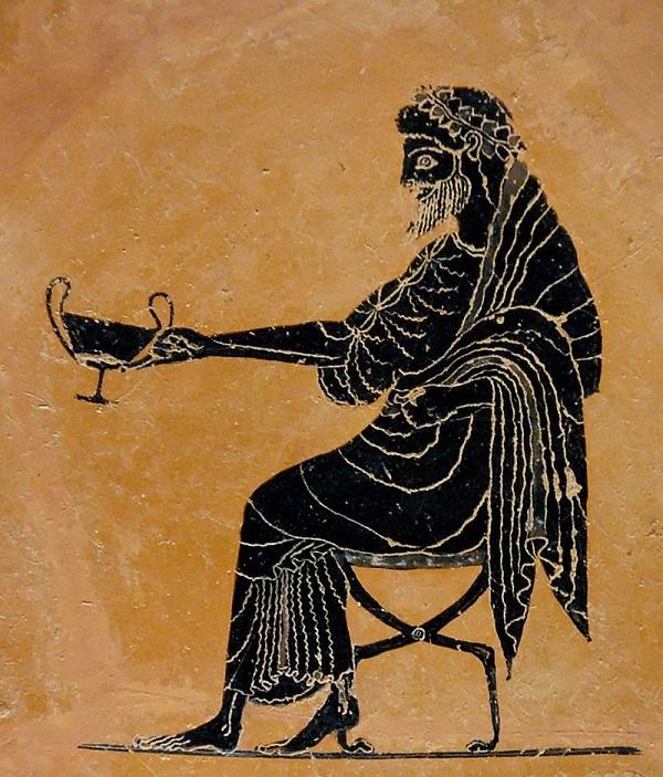 Greek wine seawater