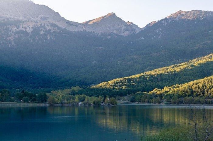 Lake Doxa in the Feneos area of the Peloponnese