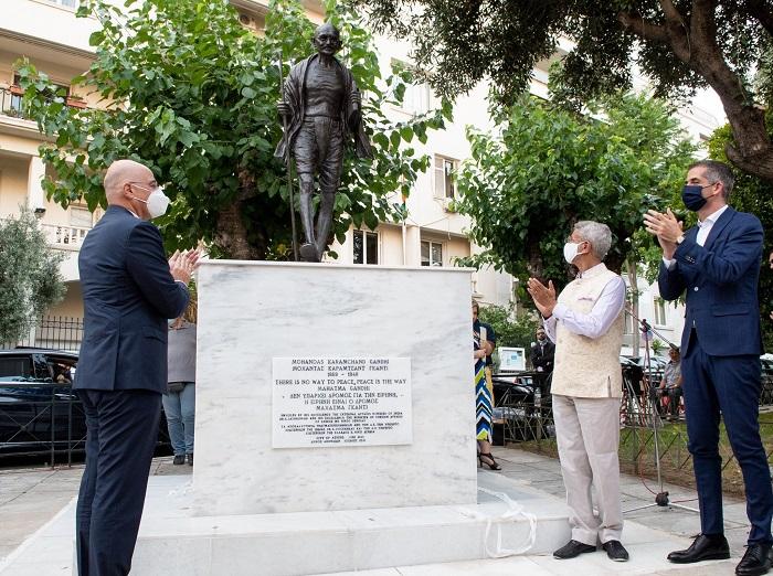 Gandhi statue Athens