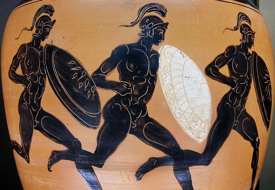 Men's shield race ancient olympic game