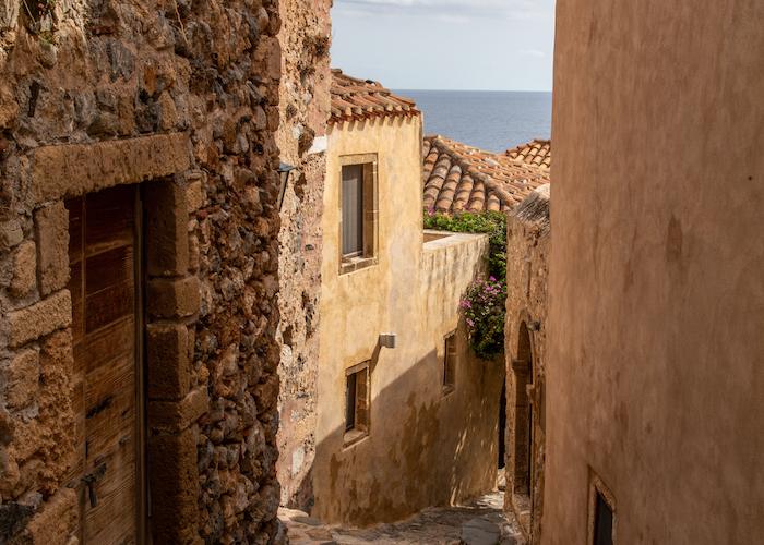 Monemvasia Alleys in Peloponnese