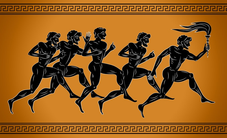 Olympic Runners on Amphora