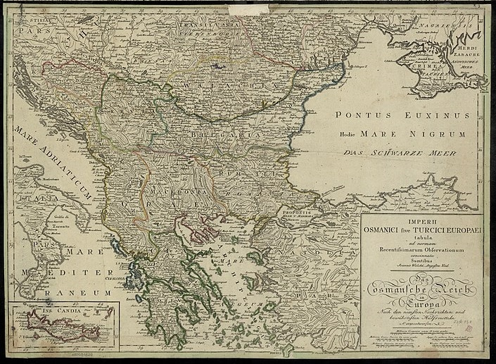 map of the Ottoman Empire in Europe