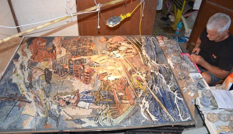 Greek mosaic artist