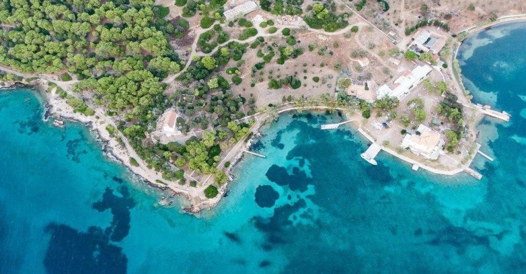 Private island rent Greece Pegassus island