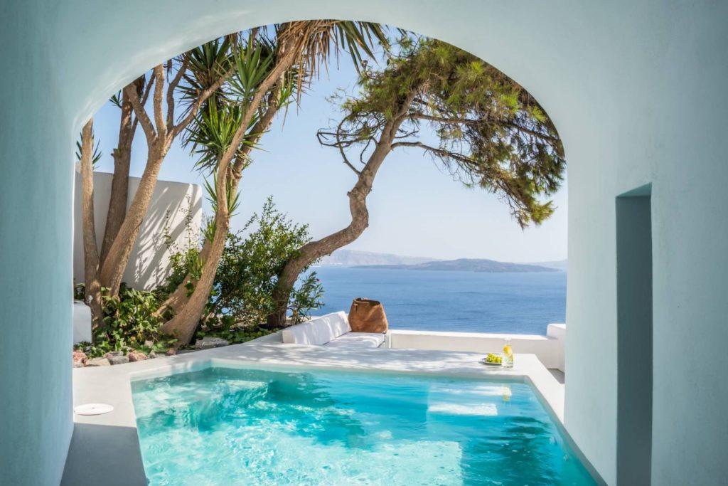 swimming pools Santorini