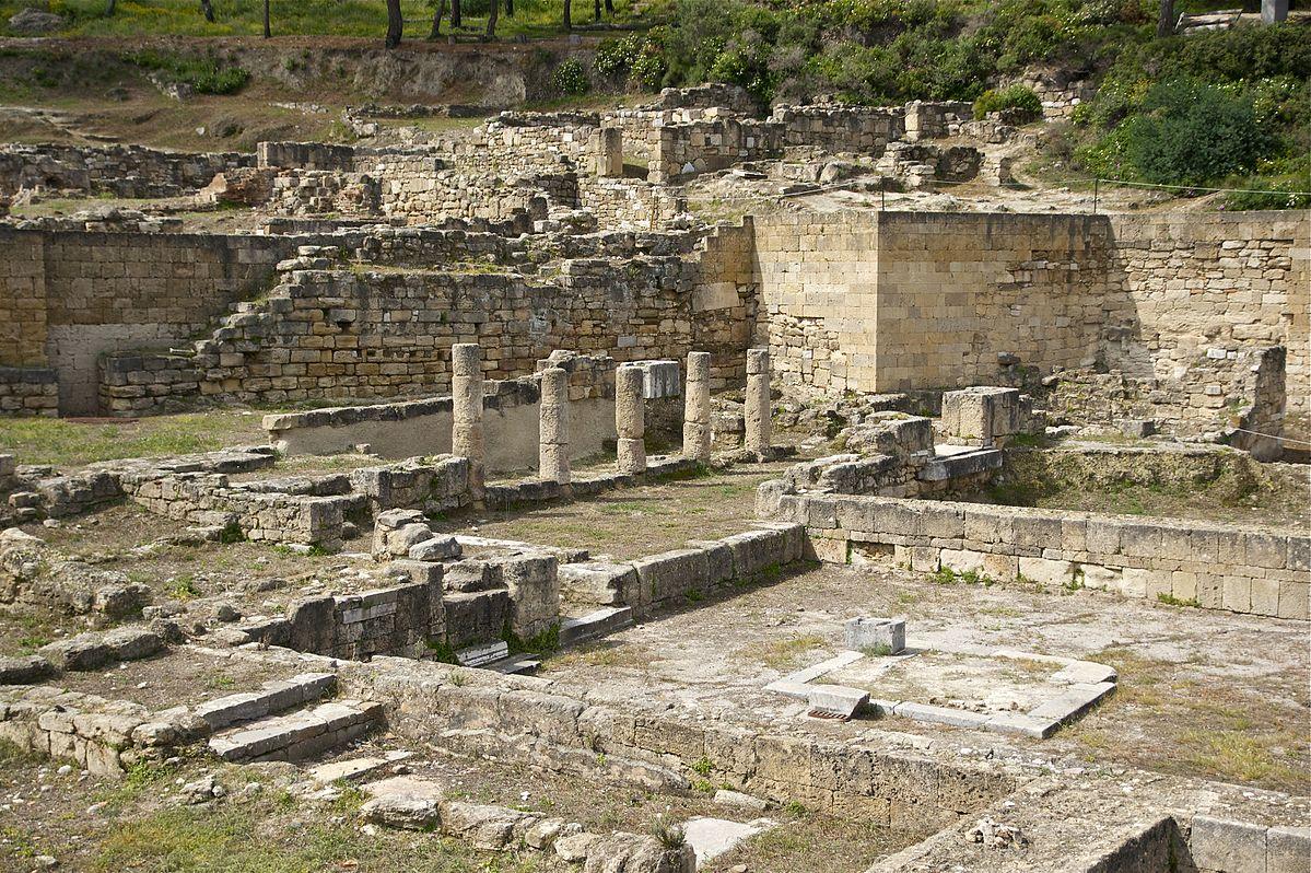 Ancieint Ruins in Kameiros, Rhodes, Greece